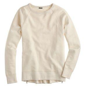 J. Crew Side Zip Crew Neck Tunic Sweatshirt